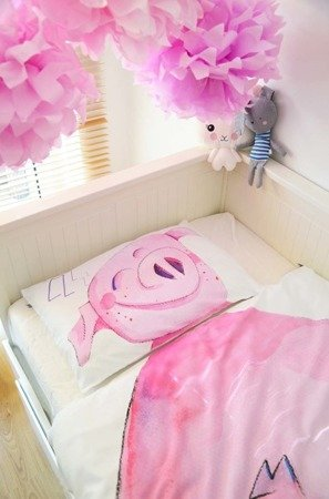 Komplet pościeli PIGGY FOR KIDS 100 x 135 cm / 40x60 cm